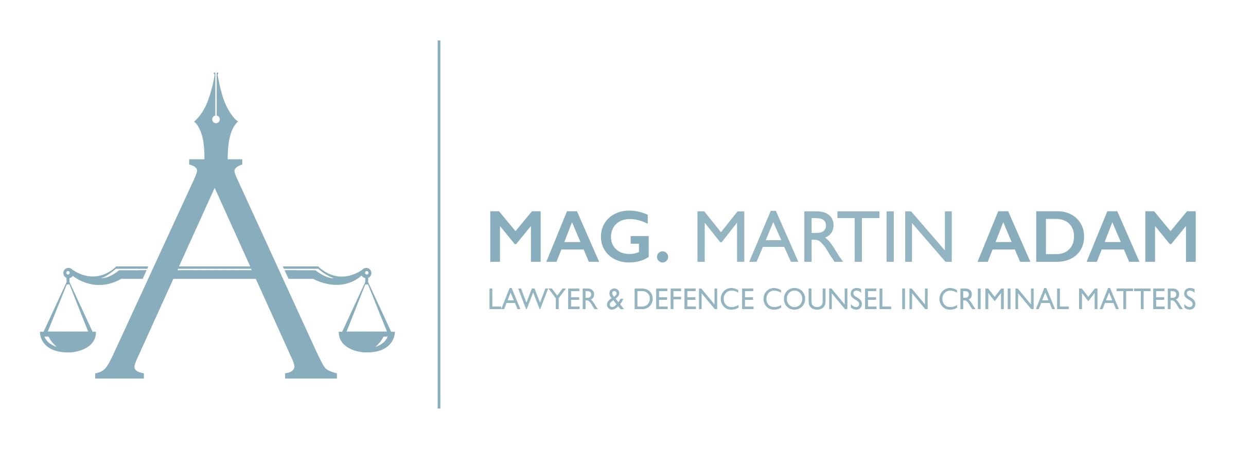 Lawer Mag. Martin Adam Logo EN